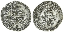 Ireland, Henry VII (1485-1509), Groat, three crowns issue, Waterford, 1.74g, coat-of-arms in quatrefoil, mullets in lower angles, rev. civitas waterforde, three crowns within plain double tressure (S.6421)