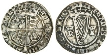 Henry VIII (1509-47), Groat, first harp issue, with Katherine Howard (1540), 1.96g, m.m. crown, crowned coat-of-arms, rev. crowned harp between royal cypher h k (S.6474), good fine