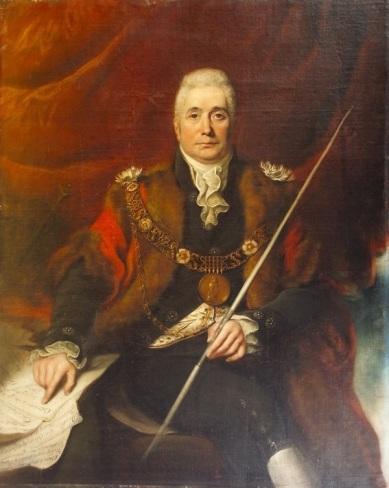 Portrait of John Claudius Beresford, wearing the chain of office of the Lord Mayor of Dublin 1814-15