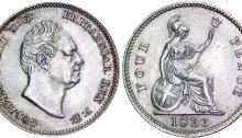 1836 GB & Ireland - Silver Groat (William IV). The Old Currency Exchange, Dublin
