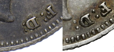 1836 William IV Groat, close colon variety (with normal)