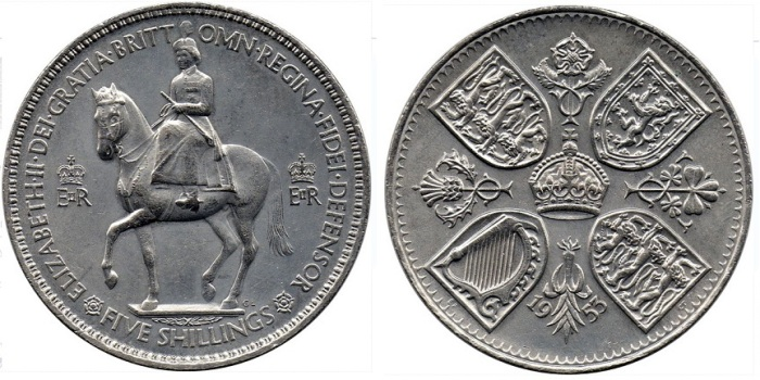 1953 GB & Northern Ireland coronation crown. (The Old Currency Exchange, Dublin)