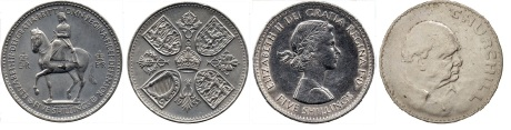 GB & Northern Ireland crowns. (The Old Currency Exchange, Dublin)