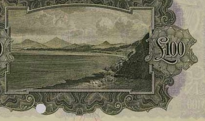 £100 'ploughman' note (reverse design - showing Killiney Bay, Co Dublin)£100 'ploughman' note (reverse design - showing Killiney Bay, Co Dublin)