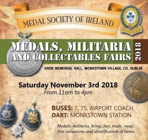 medals society of ireland fair - sep 2018
