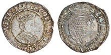 Ireland, James I (1603-25), Sixpence, 2.22g, m.m. rose, mag brit, first bust right, rev. tveatvr etc, crowned harp (S.6517), attractively toned, good fine