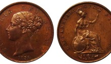 1838 GB & Ireland copper halfpenny (Victoria)