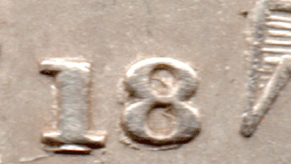 1845 GB & Ireland silver threepence - large 18 over small 18 variety. The Old Currency Exchange, Dublin.