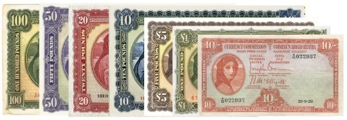 Modern Irish Banknotes 1928-2000 - The Old Currency Exchange, Dublin, Ireland.