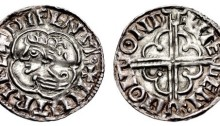 Hiberno-Norse. Phase I, Class E Penny (19mm, 1.09 g). Imitating Cnut Quatrefoil type. Dublin mint, Stegen moneyer. Struck circa 1016-1020