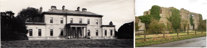 Ballynegall House, Co Westmeath - then and now !