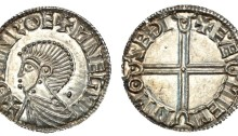 Hiberno-Norse Phase 1, Class B, 1.31g, Thymn, ÐYMNROE+MNEGNI, rev. E.ÆMIEMN MO SEÐI, (S.6108 var). The Old Currency Exchange, Dublin, Ireland.