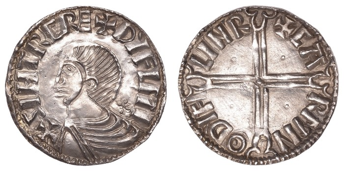 Irish Coin Daily: Hiberno-Norse Phase II Silver Penny, Sihtric of Dublin (Moneyer: CARM) - rarest of the Phase II moneyers. The Old Currency Exchange, Dublin, Ireland.
