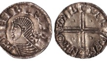 Hiberno-Norse Phase II Silver Penny, Sihtric of Dublin (Moneyer FAEREMIN) Draped bust left, cross pattée behind neck with two pellets above, 1.37g. The Old Currency Exchange, Dublin, Ireland.