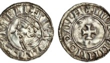 Hiberno-Norse Silver Penny (Phase I, Class D – Small Cross Type) in the name of Sihtric / Moneyer IIDREMIN. The Old Currency Exchange, Dublin, Ireland.