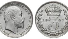 1902 Edward VII silver threepence