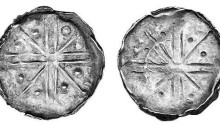 Hiberno-Norse Phase VII Silver Penny - Voided Cross, with Pellets & Sceptres. The Old Currency Exchange, Dublin, Ireland.