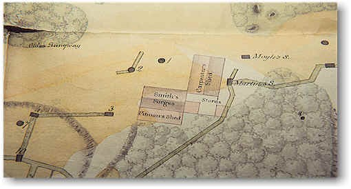 Map of Ross Island Mine - Buildings 1829