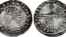 Hiberno-Norse, Phase III Penny, Class A, Type 1a - Long Cross with two hands. The Old Currency Exchange, Dublin, Ireland.
