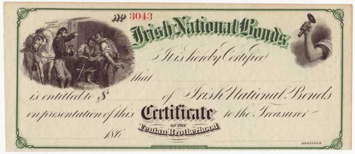 Fenian Bond certificate