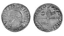 Hiberno-Norse Phase III, Class E (Symbols on Neck), Type 2f - Pellet on Neck, Long Cross with two hands + one annulet. The Old Currency Exchange, Dublin, Ireland.