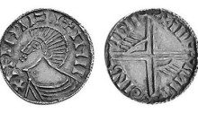 Hiberno-Norse Phase III, Class E (Bust with Symbols), Type 2e - Pellet on Neck, Long Cross with two hands. The Old Currency Exchange, Dublin, Ireland.