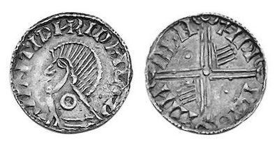 Hiberno-Norse Phase III, Class E, Plain bust, Type 2h - Annulet on Neck, Long Cross with two hands + two pellets. The Old Currency Exchange, Dublin, Ireland.