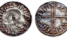 Hiberno-Norse Phase 1, Class B – Silver Penny Long Cross Type. Sihtric king of Dublin, Godwine of Winchester (rare CONUNC issue). The Old Currency Exchange, Dublin, Ireland.
