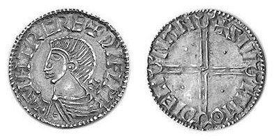 An Hiberno-Norse Phase II Long Cross Penny, Sihtric of Dublin, with Dublin mint signature of Siult (Moneyer of Dublin). The Old Currency Exchange, Dublin, Ireland.