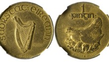 1927 Morbiducci's Irish pattern, penny (Copper-Aluminium)