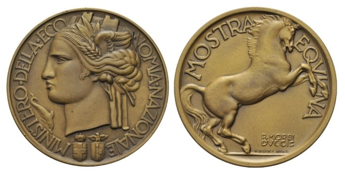 Award medal of the Ministry of National Economy opus Morbiducci. Bronze 24.82 mm