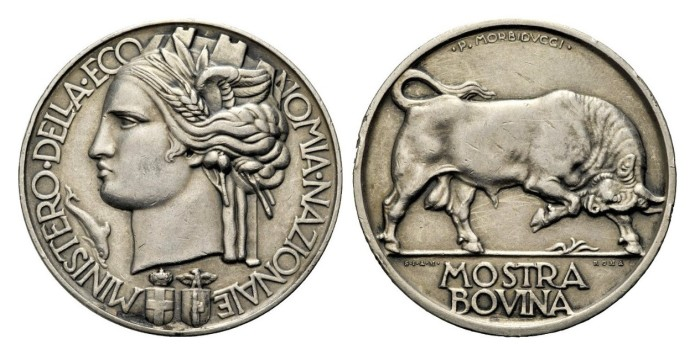 Award medal of the Ministry of National Economy opus Morbiducci. Silver 30.78 mm