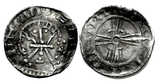 Hiberno-Norse Silver Penny, Phase V, (derivative of Edward the Confessor BMC Type v). The Old Currency Exchange, Dublin, Ireland.