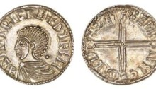 Hiberno-Norse Phase 1, Class B – Silver Penny Long Cross Type. Sihtric king of Dublin, BYRHTMAER of Winchester (rare CONUNC issue). The Old Currency Exchange, Dublin, Ireland.