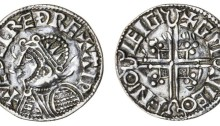 Hiberno-Norse Phase 1, Class C – Helmet Type) Silver Penny 1.16g Aethelred II + æÐelræÐ rex aip, Chester, Gunleof + gm nleo fn°o leigi. The Old Currency Exchange, Dublin, Ireland.