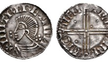 Hiberno-Norse, Phase II, Penny, bust left, cross behind, Sihtric + Faeremin (Mint uncertain). The Old Currency Exchange, Dublin, Ireland.