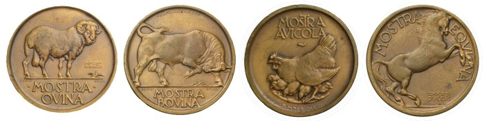Ministry of Agriculture & Forests medals - Ovina, Bovina, Avicola e Equina (Morbiducci)