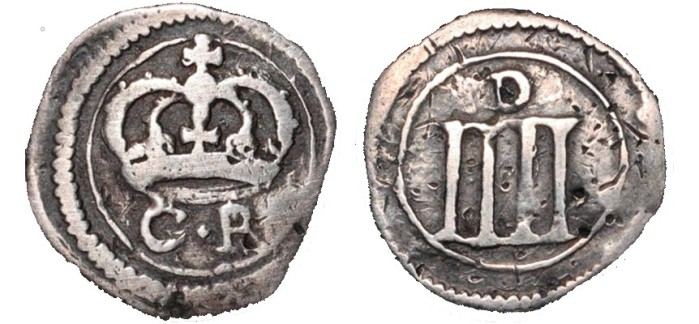 Ormonde Money, Groat, small lozenge between CR, tall, thin numerals and medium 'D' on reverse