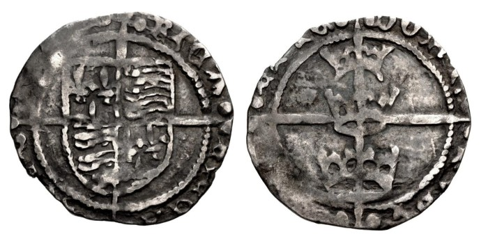Richard III, Three Crowns coinage (First issue, 1483-1485) Silver Groat (Dublin mint). The Old Currency Exchange, Dublin, Ireland.