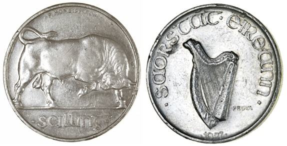 Morbiducci's Irish pattern (proof), Shilling in Silver