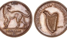1927 Morbiducci Patter (Prova / Proof) Sixpence, in Copper.