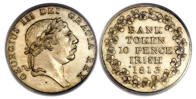 A Bank of Ireland ten pence token, similar to the one Denis Keefe attempted to forge and pass on in Killarney, Co Kerry.