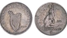 1927 Morbiducci Threepence in Nickel