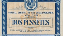 1936 Andorra 2 Pessetes