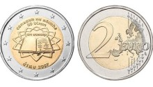 2007 Ireland - special €2 commemorative coin - 50th anniversary of the Treaty of Rome