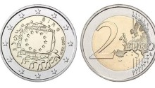2015 Ireland - Special €2 commemorative coin (30th anniversary of the EU flag)
