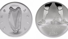 2017 Jonathan Swift & Gulliver's Travels €15 silver proof coin.