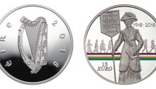 2018 Centenary of Women's Suffrage €15 silver proof.