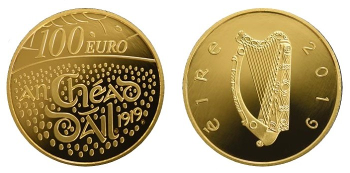 2019 Ireland - Gold Proof €100 coin - Centenary of the First Dáil Éireann