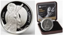 2019 Phil Lynott €15 commemorative coin, silver (boxed)